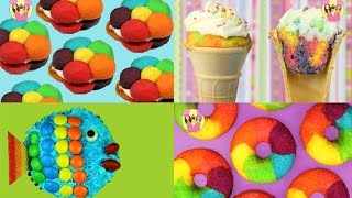 Download BEST OF RAINBOW Cookies Cupcake Cones Donuts Fish - unicorn party treats Video