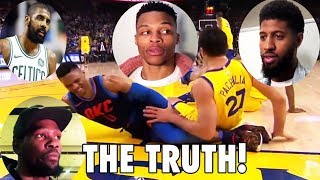 Download Russell Westbrook, Paul, Kyrie & Kevin TELL THE TRUTH about Zaza Pachulia's fall Video