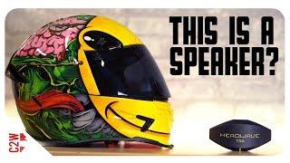 Download A WIRELESS motorcycle HELMET SPEAKER?! [First Fit - Headwave TAG] Video
