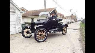 Download 1922 Ford Model T Roadster How to Start & Engine Sound & Ride on My Car Story with Lou Costabile Video