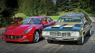 Download 1970 Oldsmobile Cruiser vs 2012 Ferrari FF - Generation Gap: Family Cruisers Video