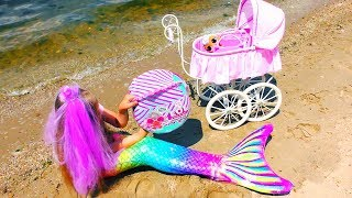 Download REAL MERMAID BABY !? Story about Mermaid tail and new LOL DOLLS ! Video for children Video