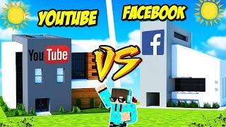 Download TANTANGAN BUILD KANTOR YOUTUBE VS FACEBOOK MANA YANG KEREN DI MINECRAFT Video