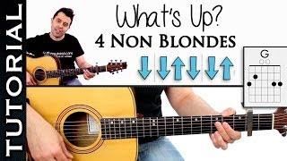 Download Como tocar What´s Up de 4 Non Blondes en guitarra tutorial con acordes y ritmo Video