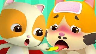 Download Daddy is Sick | Boo Boo Song | Doctor Cartoon | Kids Songs | Kids Cartoon | BabyBus Video