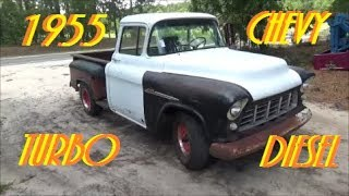 Download 1955 Chevy Turbo Diesel 3rd Gear Burnout Video