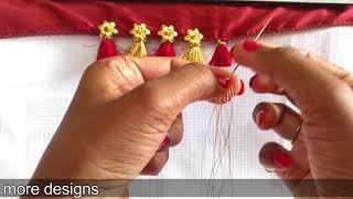 Download Latest saree kuchu design with flower beads I Ladies Club Video