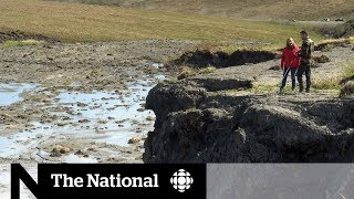 Download Climate change thawing permafrost in Northern Canada Video