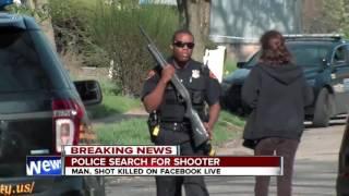 Download 11pm breaking news: manhunt for Facebook live killer Video