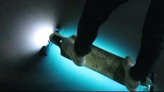 Download $10 LEDs on an electric skateboard Video