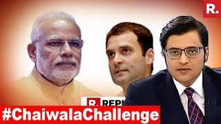Download PM Modi's #ChaiwalaChallenge To Congress | The Debate With Arnab Goswami Video