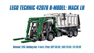 Download LEGO Technic 42078 B-model: Mack LR In-depth Review & Speed Build [4K] Video