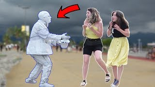 Download Scary Human Statue Prank 2019 #2 | AWESOME REACTIONS -Best of Just For Laughs Video