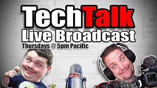 Download Tech Talk #122 - Jerry fell down on live stream... facepalm Video
