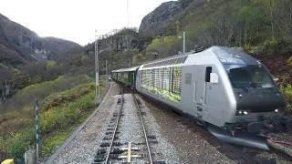 Download Train Driver's View: Flåm - Myrdal (Trains meet at Berekvam) Video