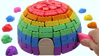 Download Learn Colors Kinetic Sand VS Mad Mattr Rainbow Hut Surprise Toys How To Make For Children Video