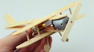Download How to Make A Plane With DC Motor - Toy Wooden Plane DIY Video