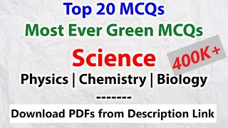 Download [Must Watch] Top 20 MCQs (Science)   Most Asked Questions   Physics, Chemistry, Biology   SSC CGL Video