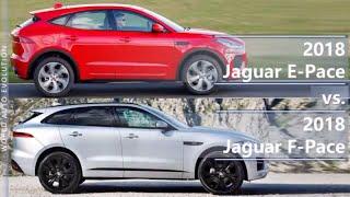 Download 2018 Jaguar E-Pace vs 2018 Jaguar F-Pace (technical comparison) Video