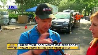 Download Operation Shredding happening at Westfield Citrus Park Mall Video