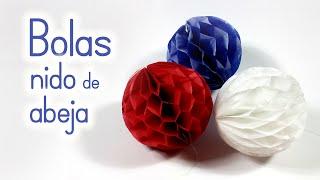 Download Manualidades: BOLAS (pompones) de Nido de Abeja para DECORAR - Innova Manualidades Video