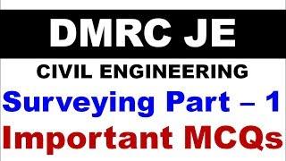 Download (हिंदी)DMRC JE 2018 IMPORTANT MCQs -SURVEYING PART 1 Video