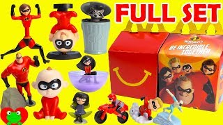 Download 2018 The Incredibles 2 McDonald's Happy Meal Toys Full Set Video