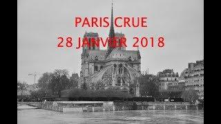 Download Paris, crue de la Seine dimanche 28 janvier 2018 Video