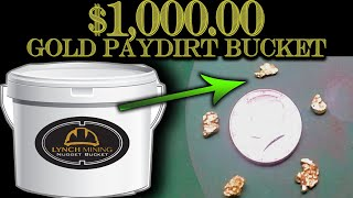 Download $1,000.00 Gold Paydirt - Unclassified Nugget Bucket from Lynch Mining Video