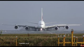 Download Airbus a380 landing This Is What Professionals pilots Do on wet runway Video