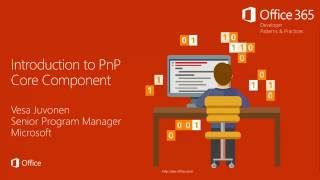 Download PnP Core Component - Introduction Video
