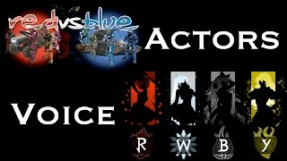 Download Voice Actors That Appear In Both Red vs Blue and RWBY Video