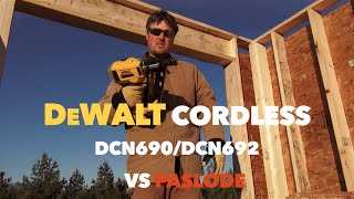 Download DeWalt DCN690 20 Volt Max Cordless Nail Gun Tool Review VS. Paslode Video