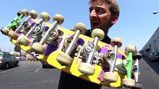Download AS MANY TRUCKS ON ONE BOARD AS POSSIBLE! | STUPID SKATE EP 101 Video