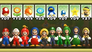 Download Newer Super Mario Bros Wii - All Power-Ups (2 Players) Video