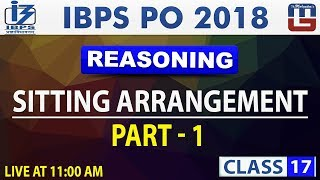 Download Sitting Arrangement | Part 1 | Class 17 | IBPS PO 2018 | Reasoning | 11:00 AM Video