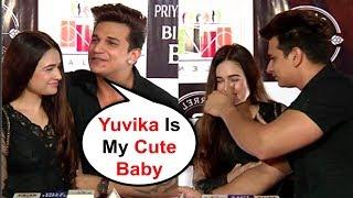 Download Prince Narula Showing Love To Girlfriend Yuvika Chaudhary At Priyank Sharma Birthday Party Video