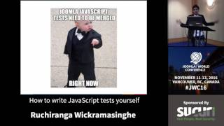 Download JWC 2016 - How to write JavaScript tests yourself - Ruchiranga Wickramasinghe Video