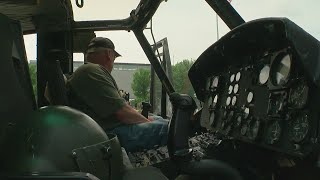 Download At Capitol Display, Huey Helicopter Spurs Reflection For Vietnam Vets Video
