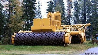 Download World Amazing Modern Machines Technology: Heavy Equipment Road Contruction, Stump Grinder, Mulcher Video
