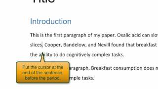 Download How to insert citations and reference lists with Word Video