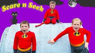 Download Incredibles 2 Assistant and Batboy Ryan Play Scare n Seek with Baby Jack Jack Video