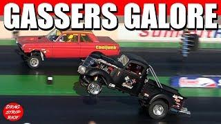 Download Old School Gasser Nostalgia Drag Racing Cars 1/4 Mile Blue Suede Cruise 2018 Video