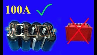 Download 12V , 100A using Super capacitors , Amazing idea Video