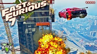 Download GTA 5 EPIC FURIOUS 7 Building Jump Stunt Race!! FAST & FURIOUS Extreme Racing (GTA 5 Funny Moments) Video