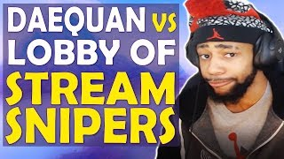 Download DAEQUAN VS ENTIRE LOBBY OF STREAM SNIPERS | CLUTCHING AND COMMENTATING - (Fortnite Battle Royale) Video