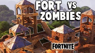Download Defend the EPIC Fort vs Huge ZOMBIE ATTACK! (Fortnite Multiplayer Gameplay Part 1) Video