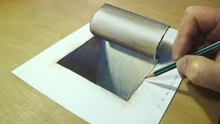 Download Simple and Easy 3D Drawing - Drawing 3D Hole - How to Draw Hole Video