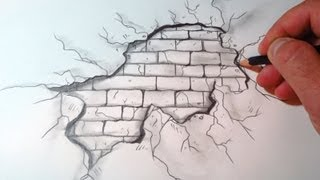 Download How To Draw A Cracked Brick Wall (The Original Video) Video