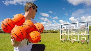 Download EPIC MINI BASKETBALL TRICK SHOTS! Video